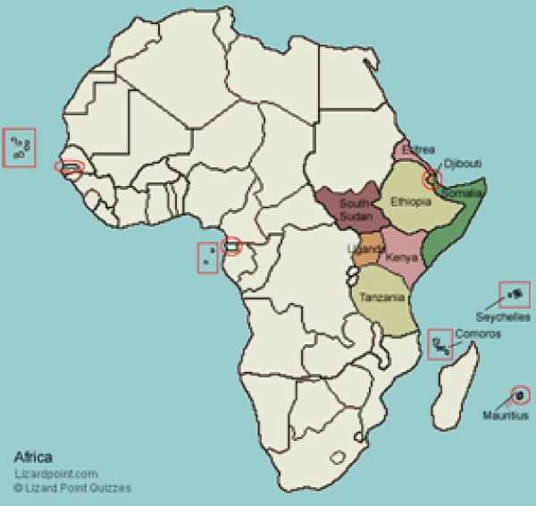 Map Of Eastern African Countries.Map Of East Africa Countries Jackenjuul