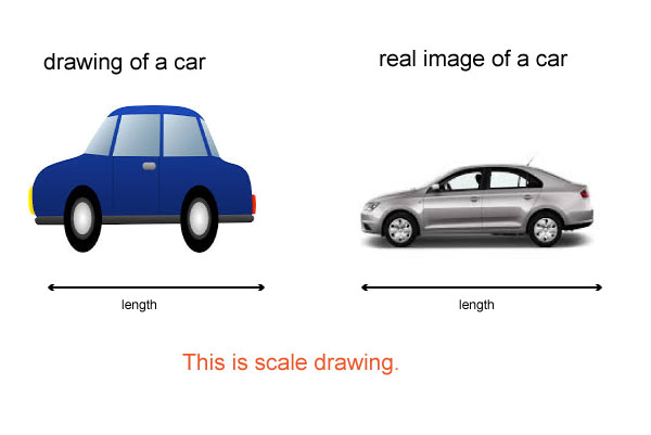 how to draw real life measuremnts in scale